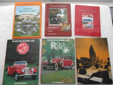 Lot of 6 exclusive Car books