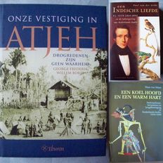Lot with 4 books concerning the colonial history of Indonesia - 1995/2009