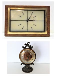 Lot of two clocks - Small beautiful table clock from Kortana and Friedrich Mauthe Schwenningen