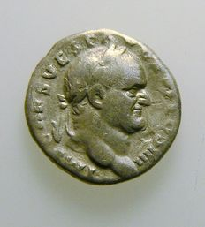 Roman empire - Vespasian - denarius - post 68 - certified