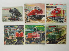 Märklin H0 - 6 Catalogues from the period 1954-1965 – In German