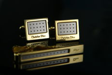 Christian Dior - Cuff Link and Tie Clip
