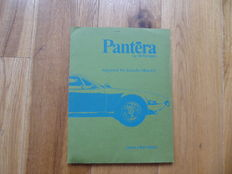 De Tomaso Pantera Official Lincoln Mercury Press Information and additional Photos with Captions