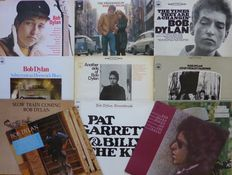Lot of 11 early albums by Bob Dylan, including his first four, and the soundtrack Pat Garrett & Billy The Kid, mostly VG+/VG+