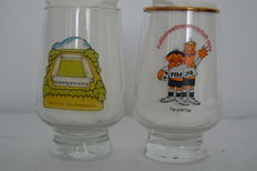 Tip und Tap world cup 1974 in Germany Advertising Glasses / Cups