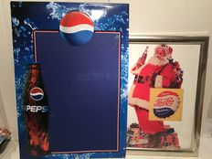 Pepsi Cola advertising signs - late 20th century