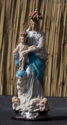 Beautiful Mary with child, Notre Dame - France - 1850