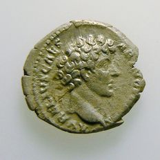 Roman empire - M. Aurelius - denarius - post 138 - certified