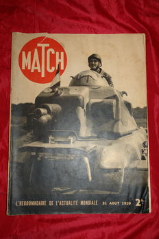 """Militaria - the Lot(Prize) of 25 newspapers """"Match"""" everything in photo. World war 39/45"""