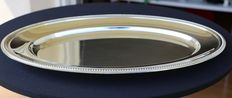 Christofle - Large Oval Platter, beaded edge - 1970