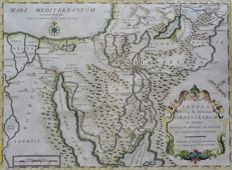 Holy Land; Calmet / Starckman - Tabula Itineris, & Stationum Israelitarum in Deserto (..) - 1757