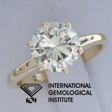 IGI 1.60 ct Round Brilliant Cut Diamond Engagement Solitaire Ringsize -51.5 / 16.40 mm ***Free Resize***