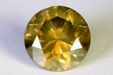 Diamant - 1.50 ct - Fancy Vivid Greenish Yellow - SI1 - Zonder Reserve Prijs