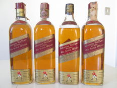 4 bottles - Johnnie Walker Red Label -  1960s and 1970s