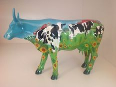 Cow Parade - Cowparade - Cow Barn - Resin - Large.