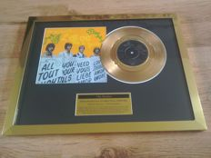 "The Beatles "" All You Need Is Love "" 24kt gold plated record award."