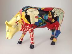 CowParade - Tribute to 'Picasso's' African Period - Large - Resin - Retired, in box.