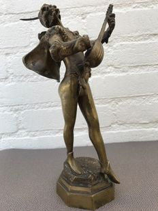After August de Wever (1836-1910) - bronze statue Mephistopheles - Belgium - c. 1920-30