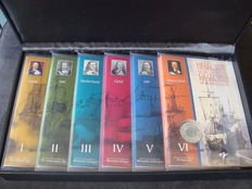 "Netherlands - Year sets 2007 ""Michiel de Ruyter, the silver collection"" Part I to VI"
