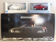 Minichamps / New Ray - Scale 1/18-1/43 - Lot with 3 x Audi TT