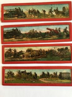 Laterna Magica with 10 World War I image strips