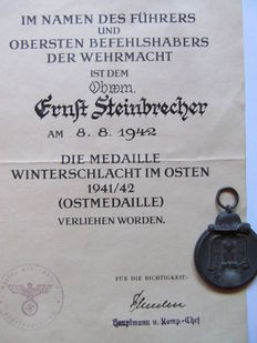 Winter Battle in the East Medal with Certificate