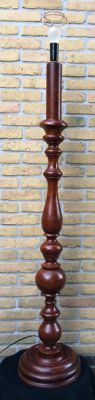 Large ornate carved lamp foot, made of solid walnut, ca. 1950