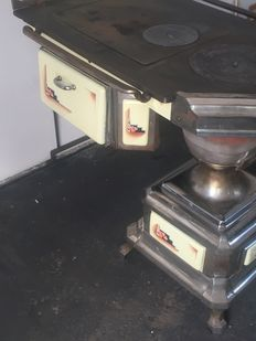 Brabender oven - iron coal stove with oven
