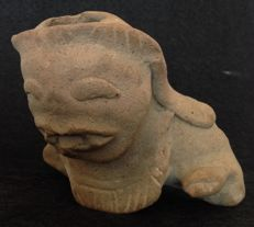 Pre-Columbian large pottery fragment of a mythical being - Tumaco culture - Ecuador - 12 cm