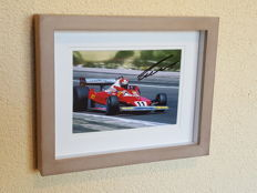 Niki Lauda - 3-time world champion Formula 1 Ferrari/McLaren - hand autographed 3D framed photo + COA.