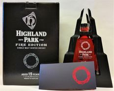 Highland Park Fire Edition in wooden showcase and original box - Limited Edition of 28.000 bottles