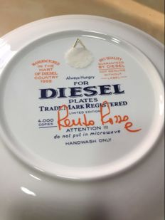 Two ceramic plates of the company Diésel