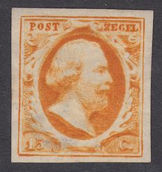 The Netherlands 1852 - King William III First edition - NVPH 3a