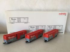 Märklin H0 - 45648 – Set of three closed American freight carriages of the NYC