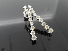 18k Gold Diamond Drop-style Earrings - 1.50ct