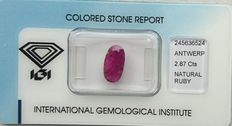Ruby - 2.87 ct - No reserve price