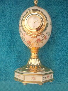 House of Faberge, the rose egg clock,