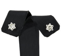 18 kt (750/1000) white gold earrings with brilliant cut diamonds set in pins