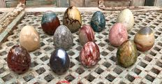 Various fine polished Mineral eggs - 6.7 to 9.2 cm - 4.61 kg  (13)