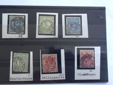The Netherlands - collection sub-post offices small round postmarks