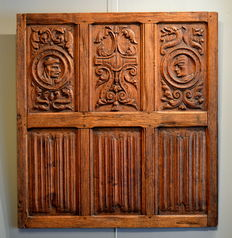 Oak wooden frame with six panels.16th century.