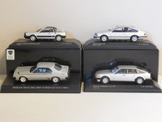 Dism / Minichamps - Scale 1/43 - Lot with 4 '80s models: Lancia, Nissan, Opel & Rover