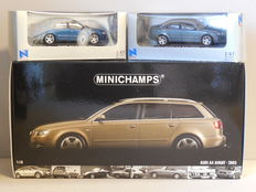 Minichamps / New Ray - Scale 1/18-1/43 - Lot with 3 x Audi A4