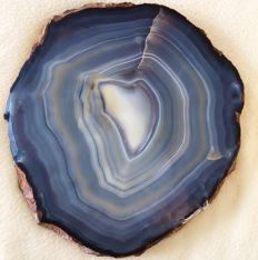 Fine Agate - natural, polished slice - 28 x 25cm - 2780 g