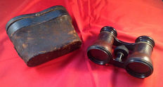 Opera glasses Ivens & Co in leather case, first half 20th century