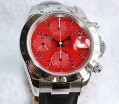 Tudor Prince automatic chronograph 79260P red dial very nice - men's watch - 1990's