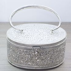 Exclusive silver handbag of Bali design