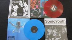 Nirvana / My Bloody Valentine / Sonic Youth / Mad Season - Great lot of 4LP's, including 2 on coloured vinyl + 1 limited (500) edition