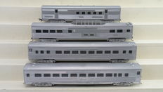 Roundhouse H0 - 5991/6011/5971/5001 - 4 Piece passenger carriage set of the Southern Pacific