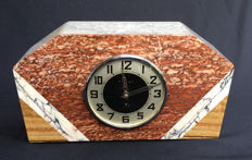 Marble Art Deco clock, ca. 1930, France